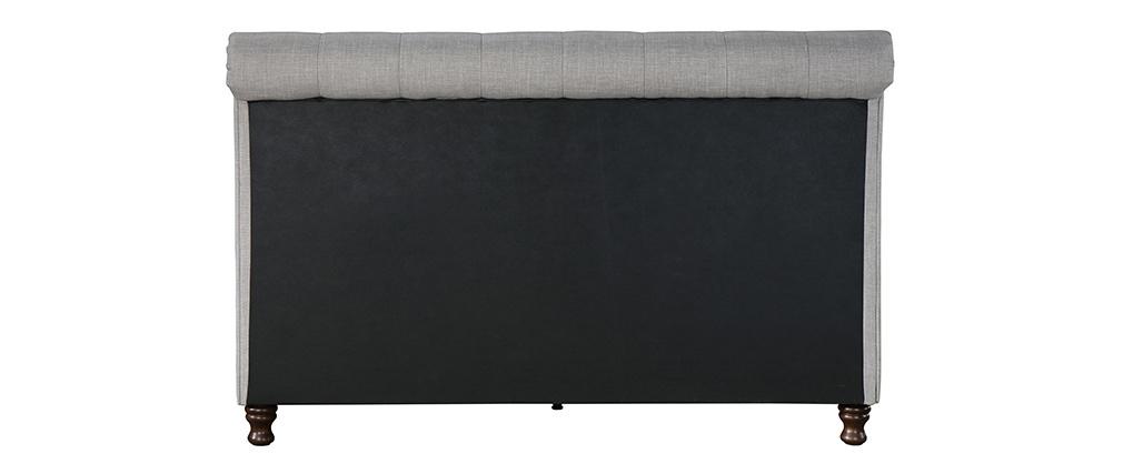 Lit design deux places 160*200 lin gris RILEY