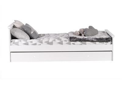 Lit enfant 90x190cm design MDF blanc DREAM