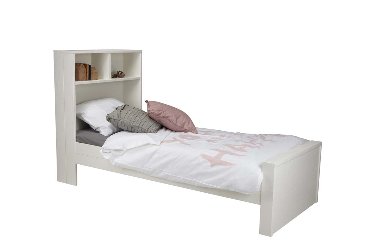 lit enfant en pin blanc avec rangements malo miliboo. Black Bedroom Furniture Sets. Home Design Ideas