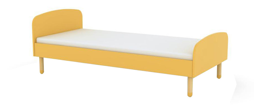 Lit enfant jaune 90 x 190 LUDIK