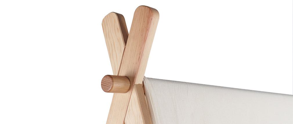 Lit enfant tipi bois et tissu coton naturel APACHE