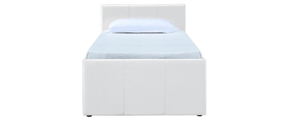 Lit gigogne 90 x 195 cm blanc MACCO