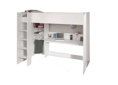 Lit mezzanine blanc 90x200 cm PABLO