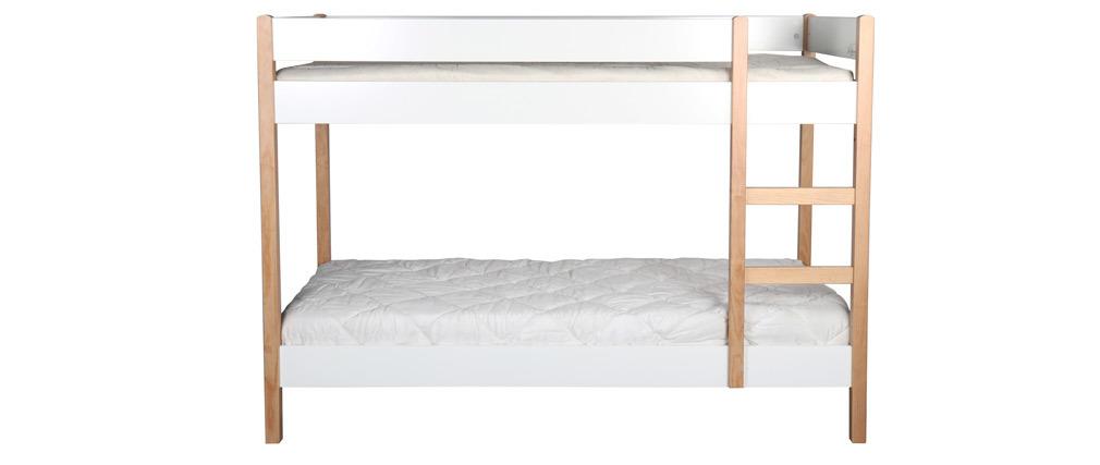 lit superpos enfant avec panneaux amovibles bois clair et. Black Bedroom Furniture Sets. Home Design Ideas