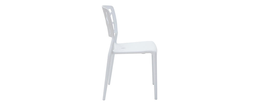Lot de 2 chaises design blanches KATIA  Miliboo