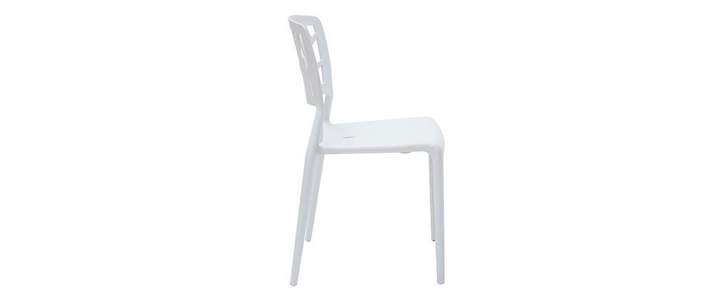 lot de 2 chaises design blanches katia miliboo. Black Bedroom Furniture Sets. Home Design Ideas