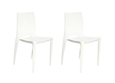 Lot de 2 chaises design blanches LYZA