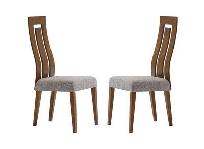 Lot de 2 chaises design bois chocolat VALLY
