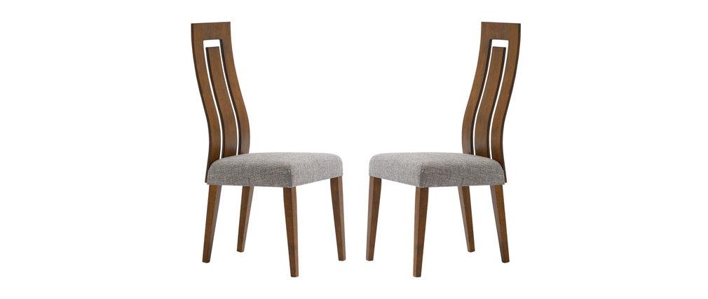 Lot de 2 chaises design bois chocolat vally miliboo - Chaises design soldes ...