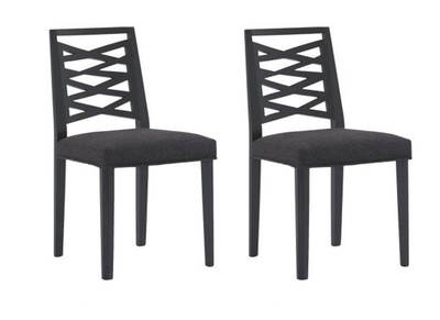 Lot de 2 chaises design bois gris LANA
