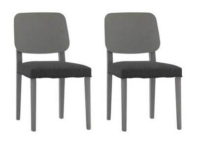 Lot de 2 chaises design bois gris TINA