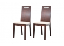 Lot de 2 chaises design bois wengé MELLY