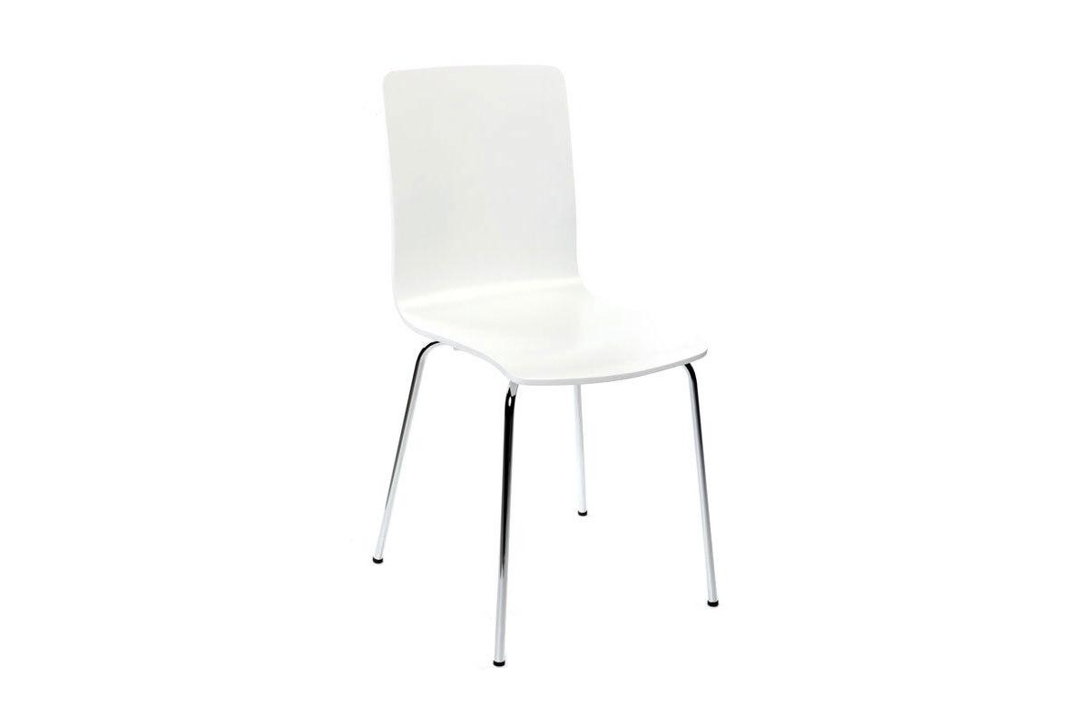 lot de 2 chaises design cuisine blanches nelly miliboo. Black Bedroom Furniture Sets. Home Design Ideas