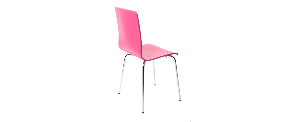 lot de 2 chaises design cuisine roses nelly miliboo