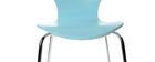 Lot de 2 chaises design empilables bleues NEW ABIGAIL