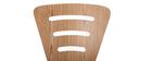 Lot de 2 chaises design empilables bois naturel LENA