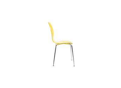 Lot de 2 chaises design empilables jaunes NEW ABIGAIL