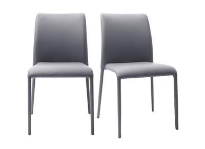 Lot de 2 chaises design gris MALIA