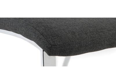 Lot de 2 chaises design grises BELLA