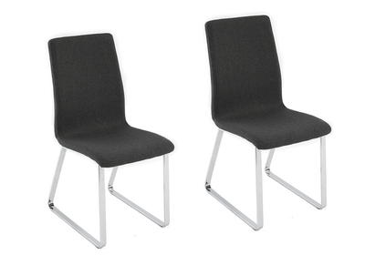 Lot de 2 chaises design grises BELLA
