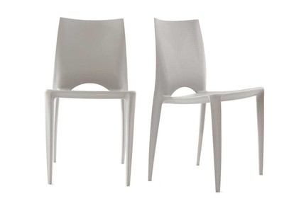 Lot de 2 chaises design grises LYZA