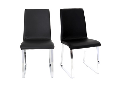 Lot de 2 chaises design noires BELLA