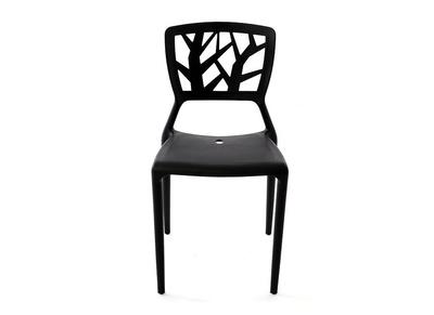 Lot de 2 chaises design noires KATIA