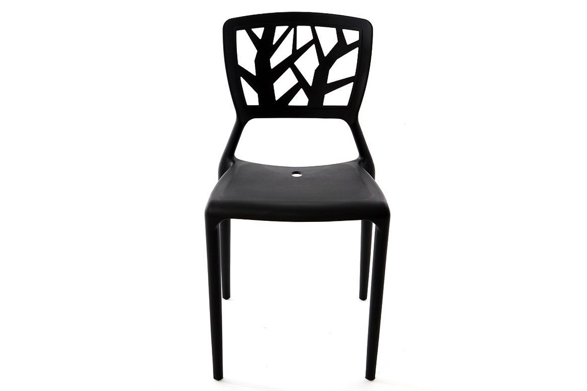 Lot de 2 chaises design noires katia miliboo - Lot de chaises noires ...