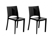 Lot de 2 chaises design noires LYLA