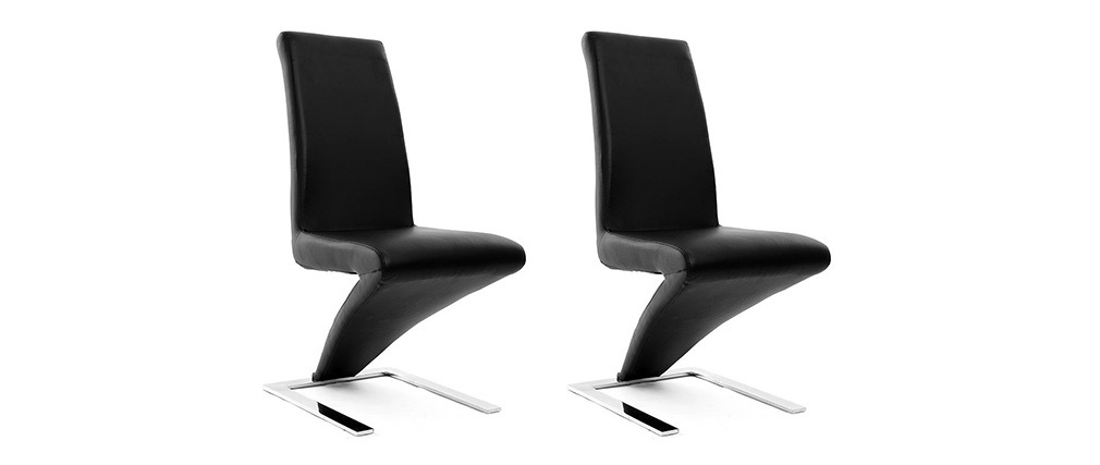 Lot de 2 chaises design noires NEW ANGIE