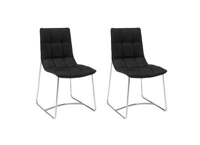 Lot de 2 chaises design noires SOFIE