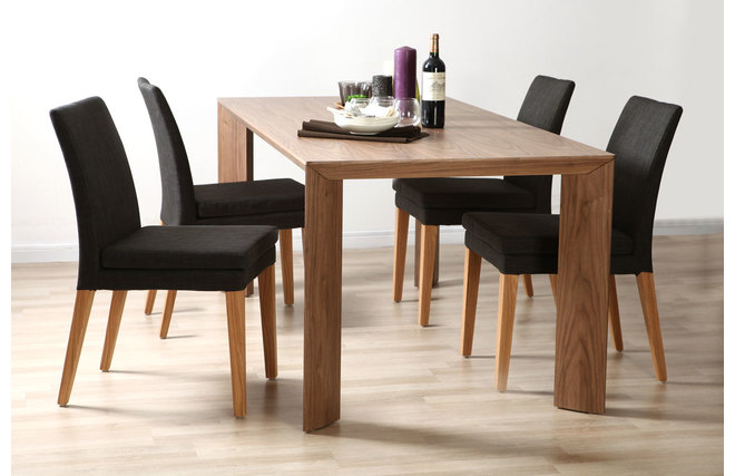 lot de 2 chaises design polyester gris anthracite gloria miliboo. Black Bedroom Furniture Sets. Home Design Ideas