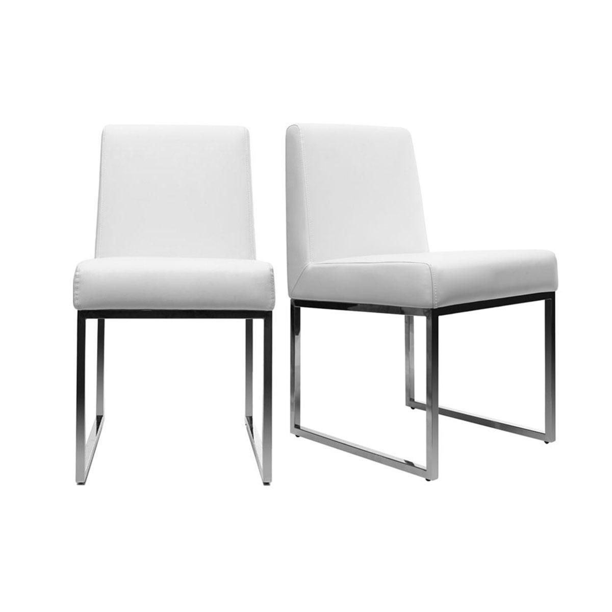 Lot De 2 Chaises Design Polyurethane