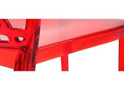 Lot de 2 chaises design rouges KLARISSE