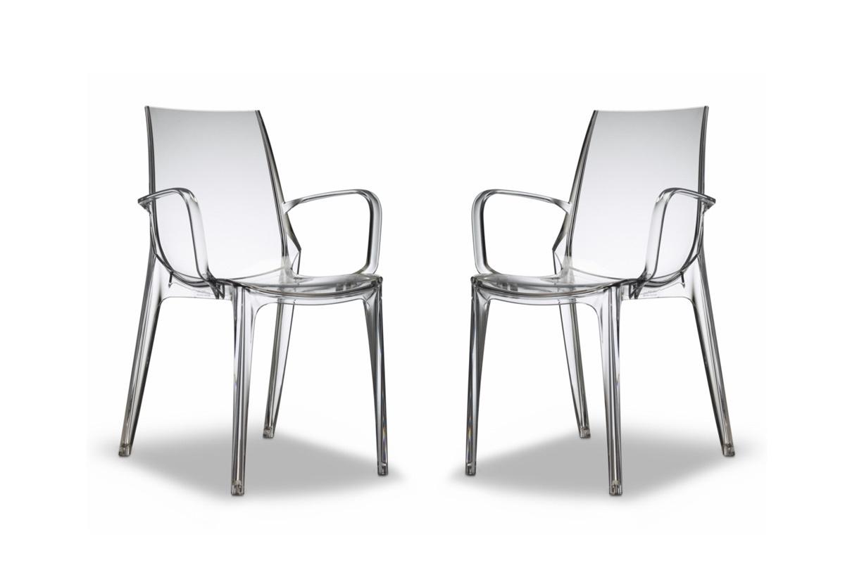 Lot de 2 chaises design transparentes aerial miliboo - Chaises transparentes design ...