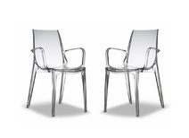 Lot de 2 chaises design transparentes AERIAL