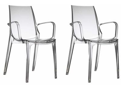 Lot de 2 chaises design transparentes AERIAL