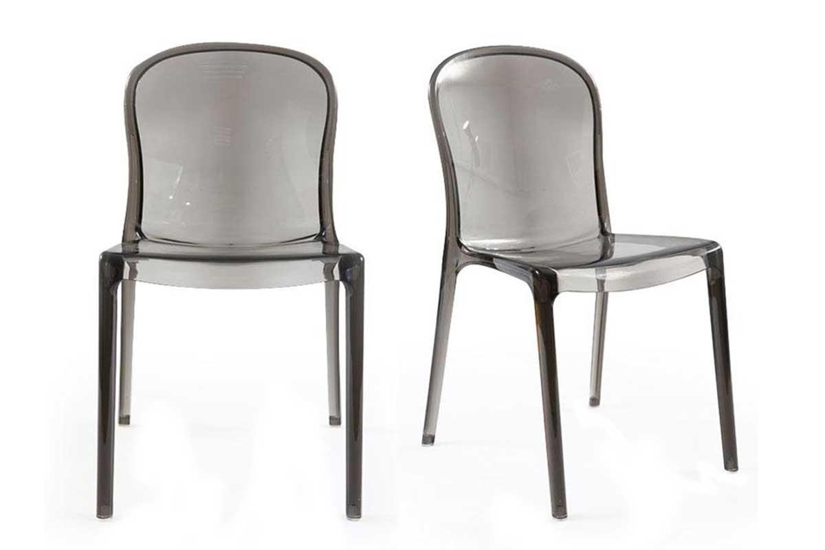 Lot chaises transparentes
