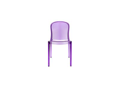 Lot de 2 chaises design transparentes violettes polycarbonate THALYSSE
