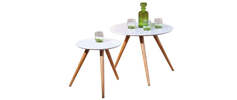 Lot de 2 tables gigognes design BAMBOU