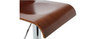 Lot de 2 tabouret de bar / cuisine design bois coloris noyer SURF V2
