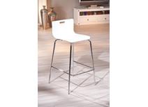 Lot de 2 tabourets / chaise de bar design blancs EMPIRE