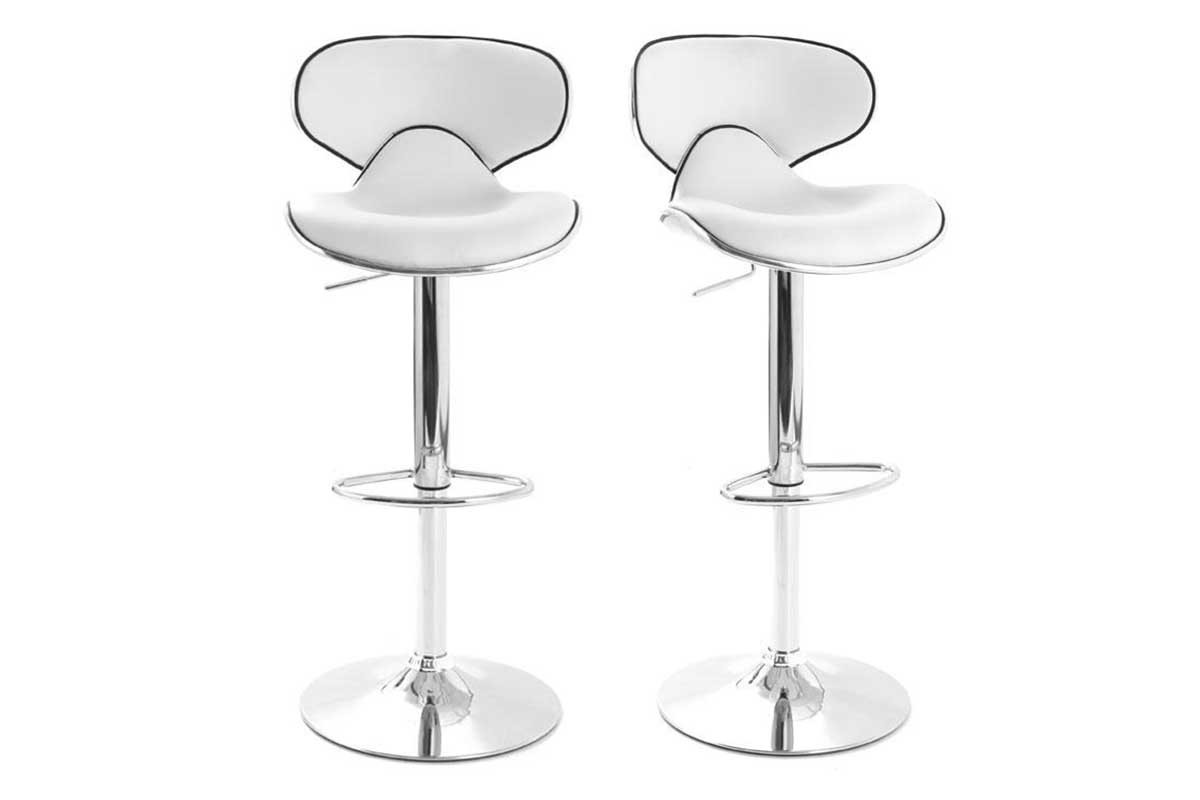 tabouret de bar pop blanc. Black Bedroom Furniture Sets. Home Design Ideas