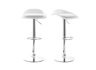 Lot de 2 tabourets de bar design blanc SYRIUS