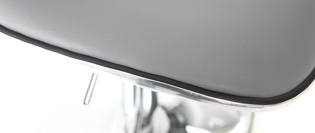Lot de 2 tabourets de bar design gris PEGASE