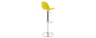 Lot de 2 tabourets de bar design jaunes STEEVY