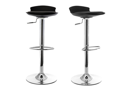 Lot de 2 tabourets de bar design noir NOVA