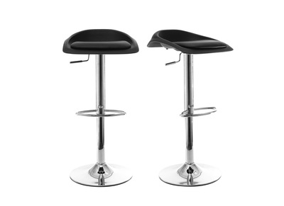 Lot de 2 tabourets de bar design noir SYRIUS