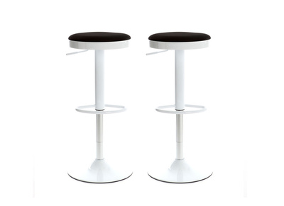 Lot de 2 tabourets de bar design noirs JANUS