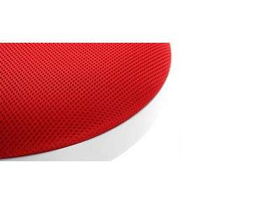 Lot de 2 tabourets de bar design rouges JANUS